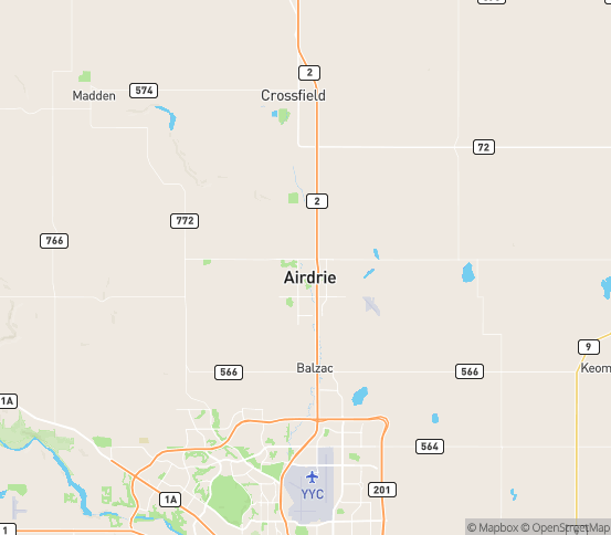 Map of Airdrie, AB