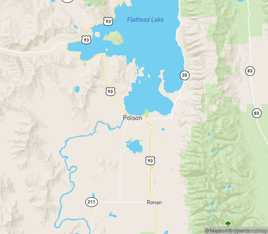 Map of Polson, MT
