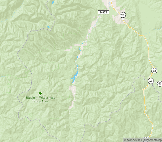 Map of Conner, MT