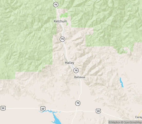 Map of Hailey, ID