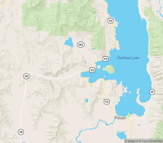 Map of Elmo, MT
