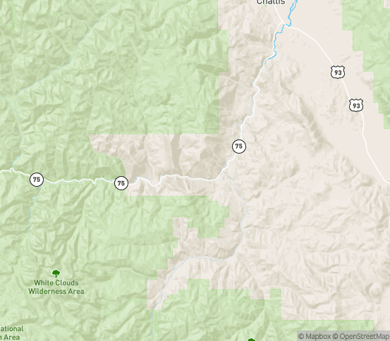 Map of Clayton, ID
