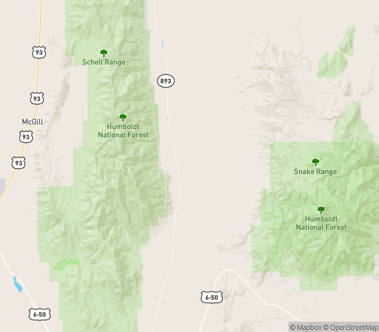 Map of Ely, NV
