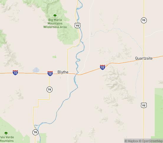 Map of Cibola, AZ