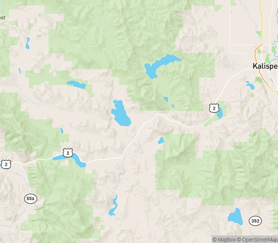 Map of Marion, MT
