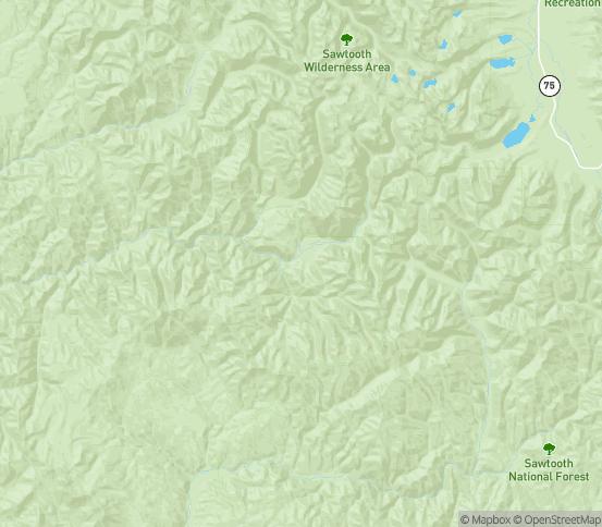 Map of Lowman, ID