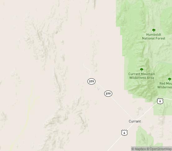 Map of Eureka, NV