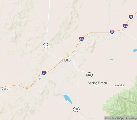 Map of Elko, NV