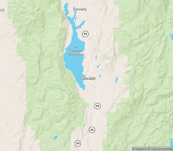 Map of Cascade, ID