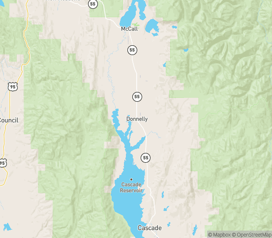 Map of Donnelly, ID