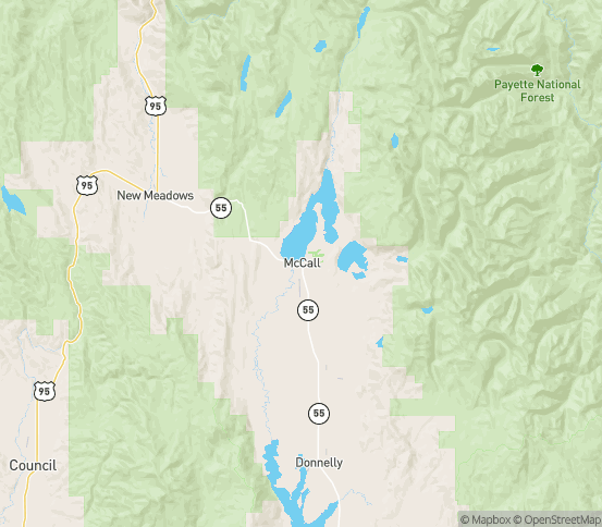 Map of Mccall, ID