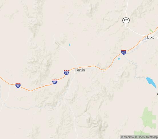 Map of Carlin, NV