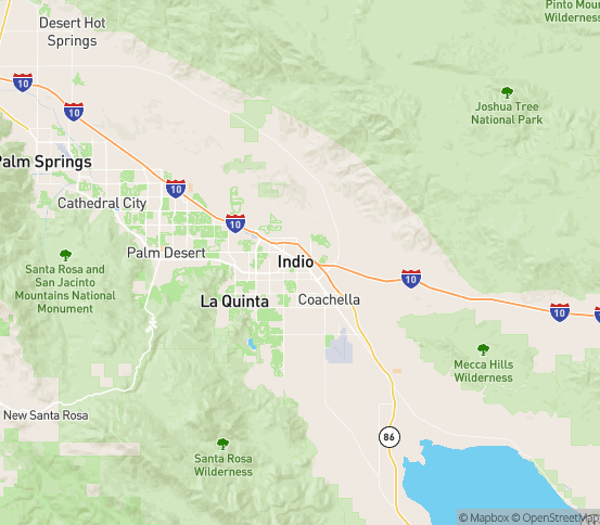 Map of Indio, CA