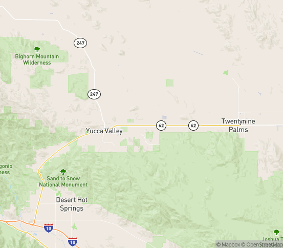 Map of Joshua Tree, CA