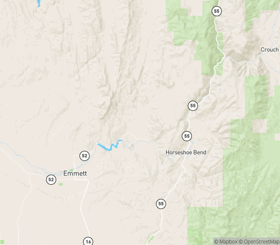 Map of Sweet, ID