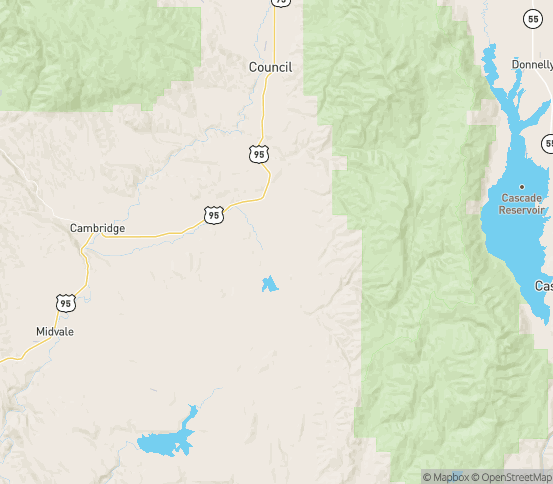 Map of Indian Valley, ID