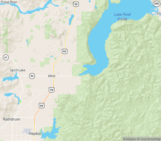 Map of Bayview, ID