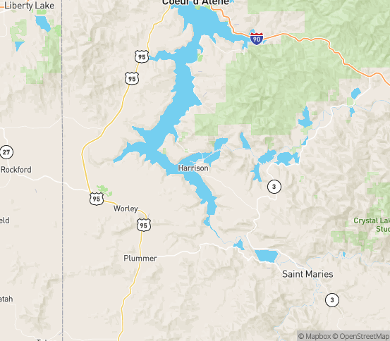 Map of Harrison, ID