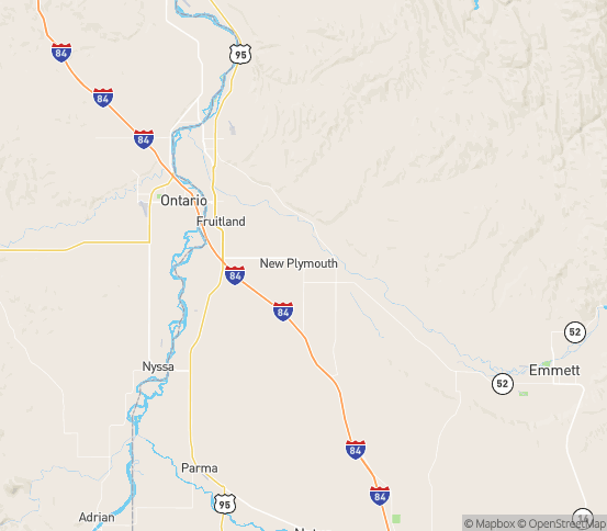 Map of New Plymouth, ID