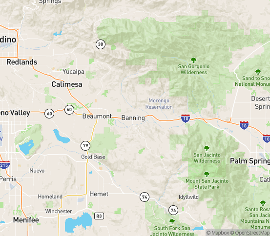 Map of Banning, CA