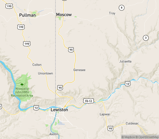 Map of Genesee, ID