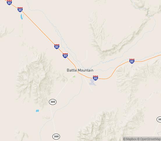 Map of Battle Mountain, NV