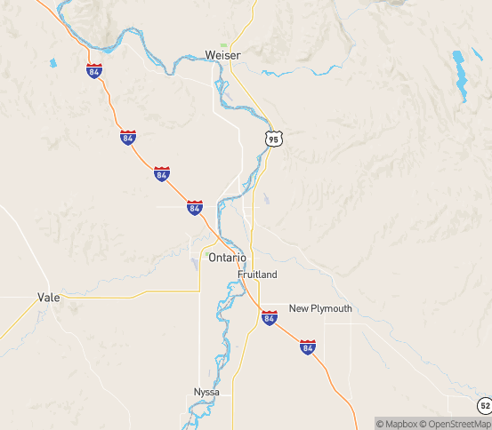 Map of Payette, ID
