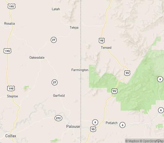 Map of Desmet, ID