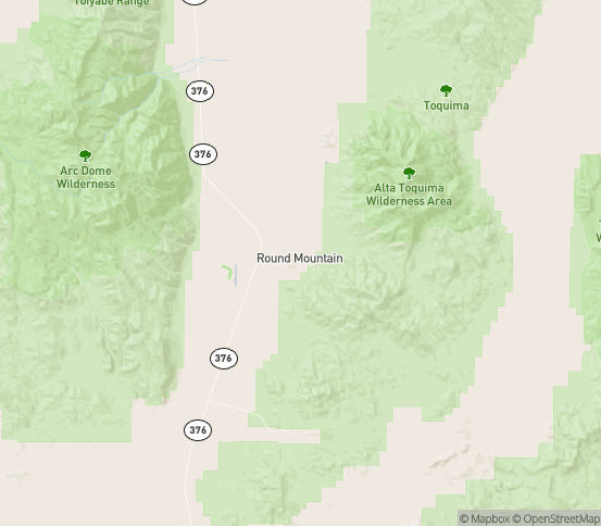 Map of Round Mountain, NV