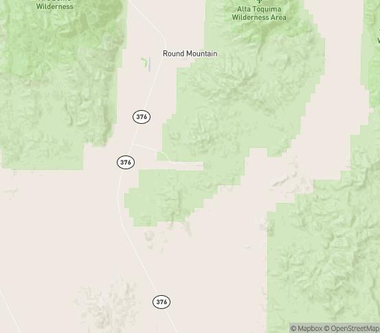 Map of Round Mountain, NV
