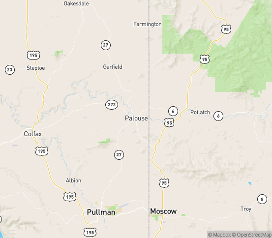 Map of Viola, ID