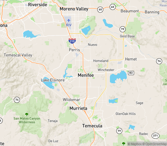 Map of Sun City, CA