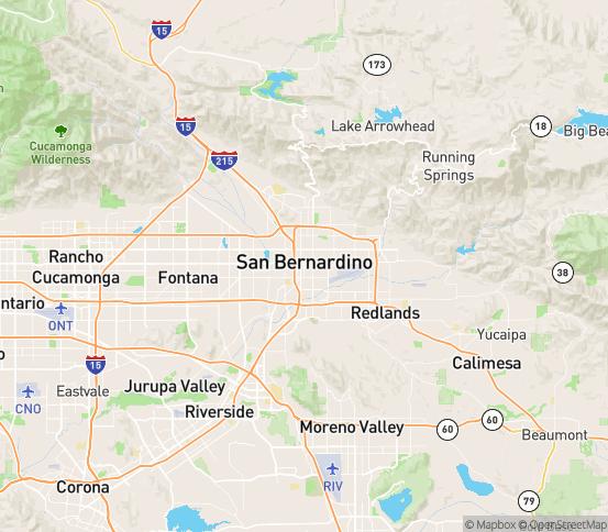 Map of San Bernardino, CA