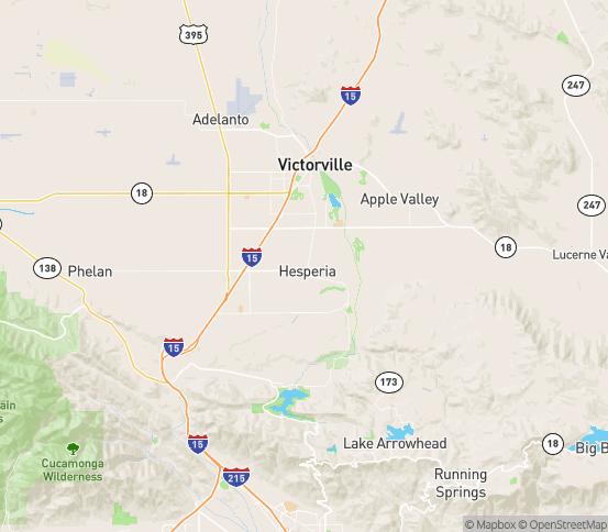 Map of Hesperia, CA