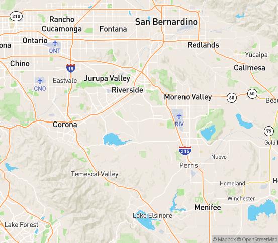 Map of Woodcrest, CA