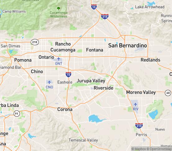 Map of Mira Loma, CA