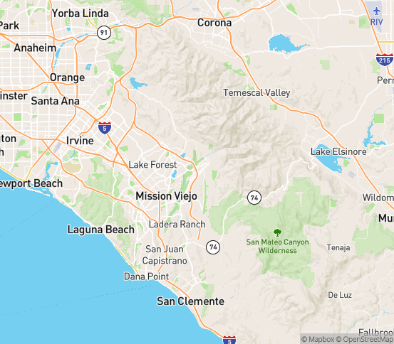 Map of Trabuco, CA
