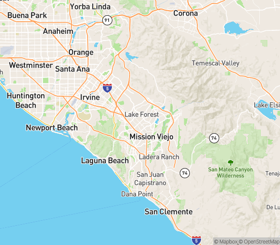 Map of El Toro, CA