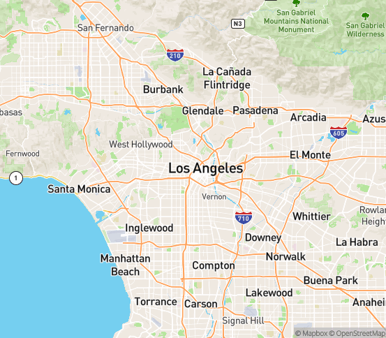 Map of Los Angeles, CA