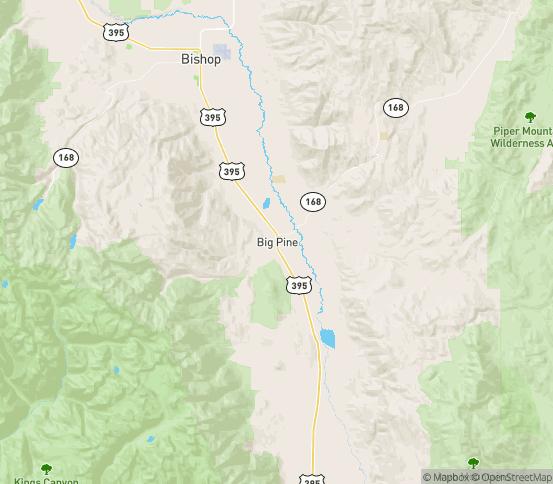 Map of Big Pine, CA