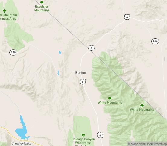 Map of Benton, CA