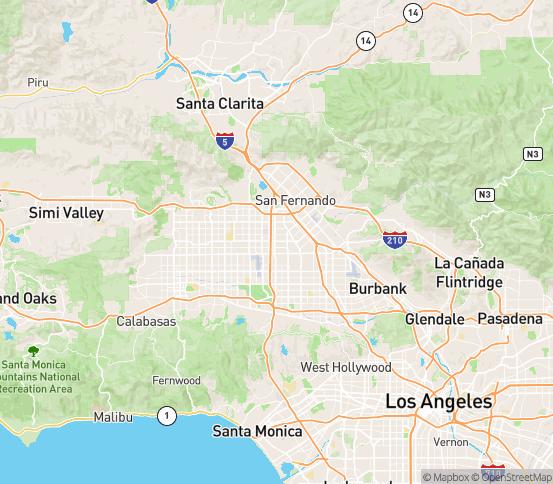 Map of Sepulveda, CA