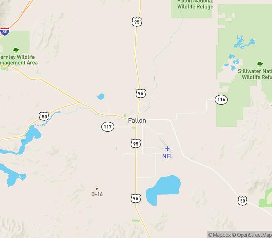 Map of Fallon, NV