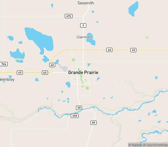 Map of Grande Prairie, AB