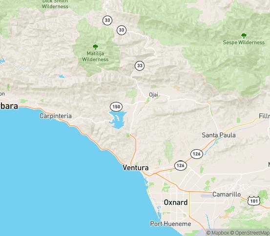 Map of Oak View, CA