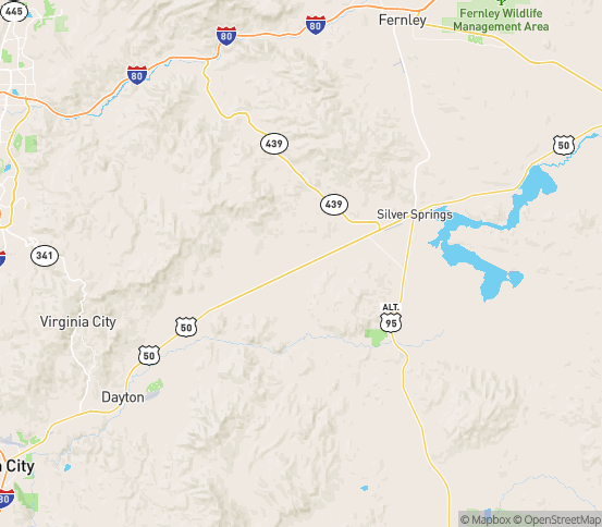 Map of Stagecoach, NV