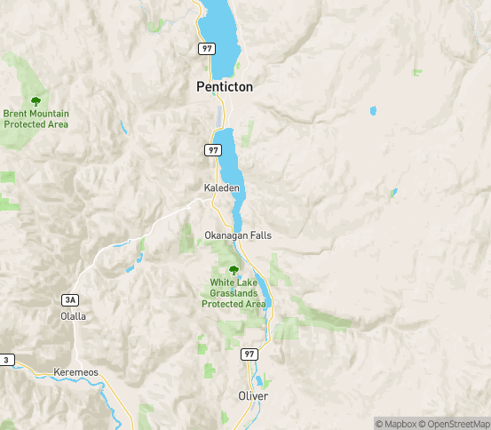 Map of Okanagan Falls, BC