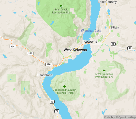 Map of Westbank, BC