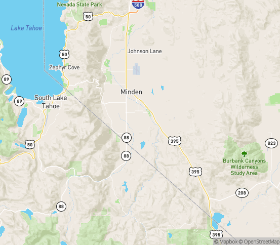 Map of Gardnerville, NV