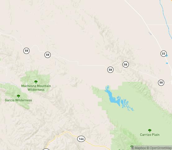 Map of Mc Kittrick, CA